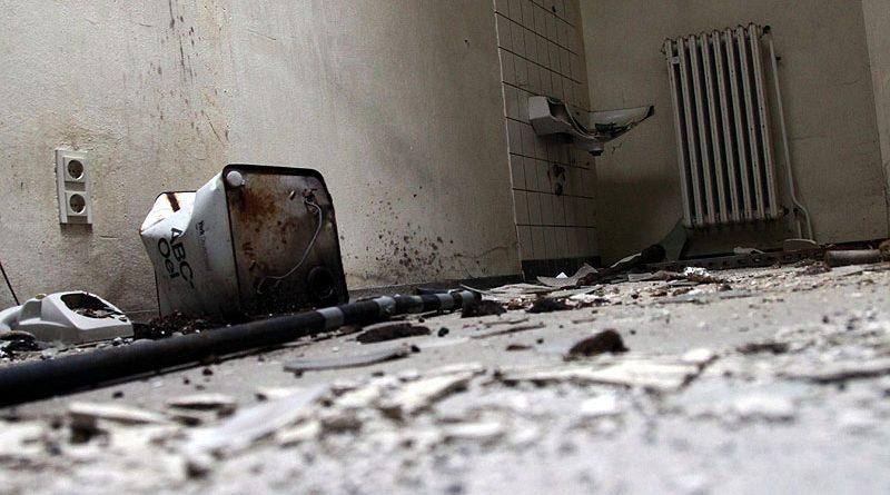 Zerstörungswut hat ihre Spuren genau so hinterlassen wie der Metalldiebstal (Foto: D. Schumann)