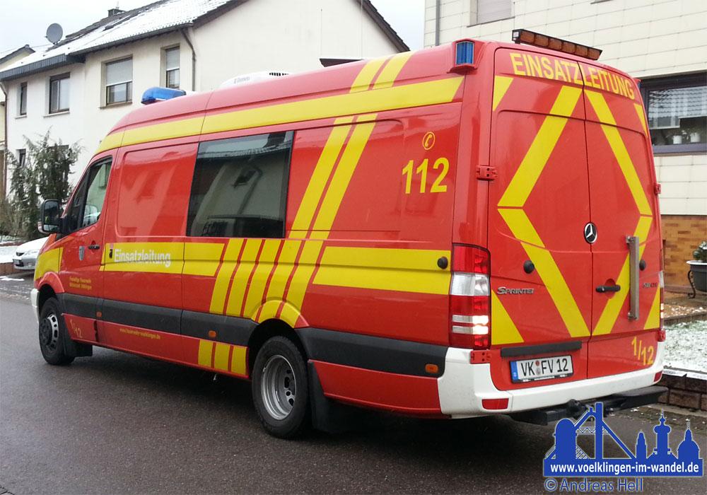 Der Einsatzleitwagen ELW 2 der Feuerwehr Völklingen