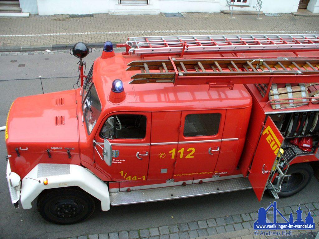Das Fahrzeug kurz vor seiner Außerdienststellung bei einem Einsatz in der Poststraße © Andreas Hell