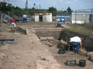 Impression aus der Grabungsperiode 2002