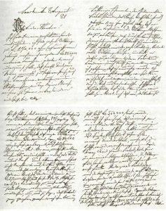 Brief von Carl Röchling an seinen Bruder Theodor, er handelt um den Kauf der Hütte. (Quelle: Saarstahl AG)