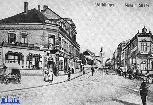 Die Rathausstraße um 1910