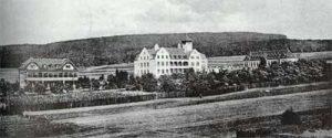 Das Hüttenkrankenhaus 1910.