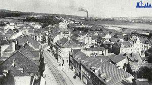Blick vom alten Rathaus in Richtung Fenne 1920