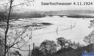 Die Saar führt Hochwasser