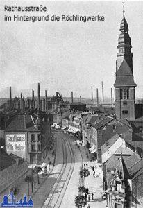 1925: Blick in die Rathausstraße