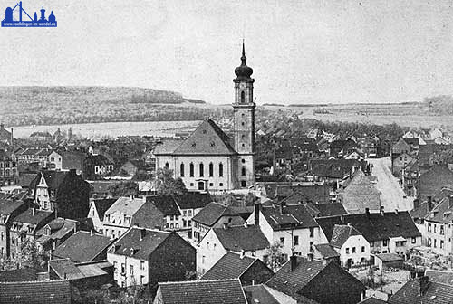Ende der 1920er Jahre, Blick auf die Versöhnungskirche und Umgebung