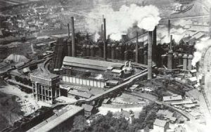 Das Werk 1929. (Quelle: Saarstahl AG)