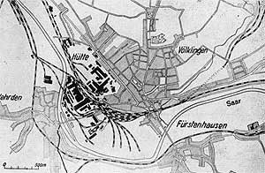 Die Bebauung Völklingens 1931