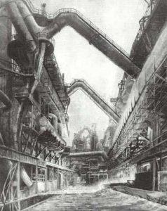 1933; Gemälde von Grete Waldau (Quelle: Saarstahl AG)