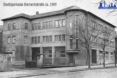 Die damals neue Sparkasse 1959