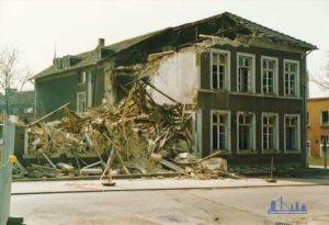 1987: Bergstr. 30, Abriss alte Bergschule. Foto: Manfred Freytag