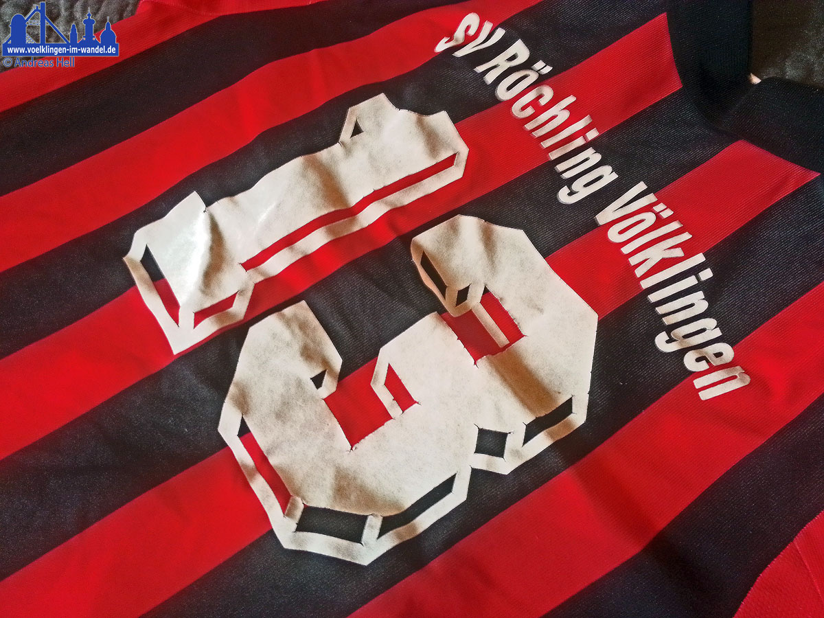 Rückennummer 13 auf einem Trikot des SV Röchling Völklingen