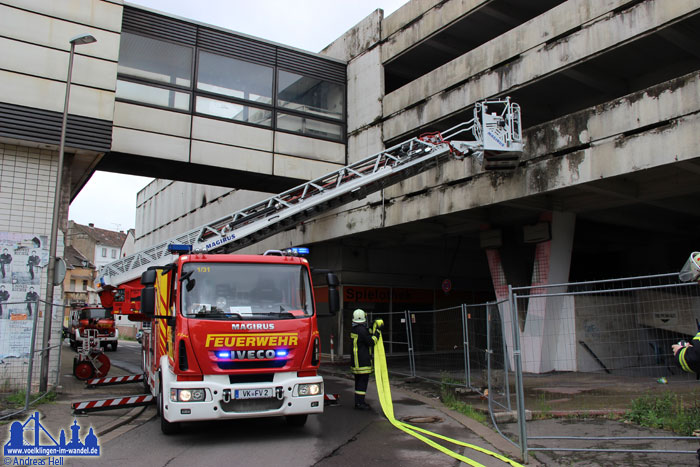 Brand im Kaufhof-Parkhaus