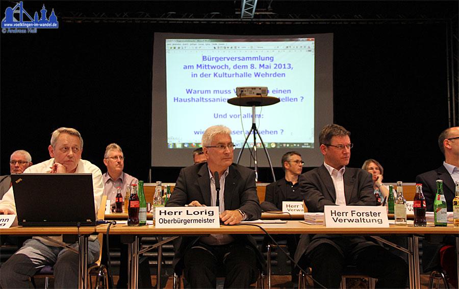 Es ist noch ein weiter Weg zum genehmigungsfähigen Haushalt, das wusste auch OB Klaus Lorig bereits bei der 1. Bürgerversammlung im Mai.