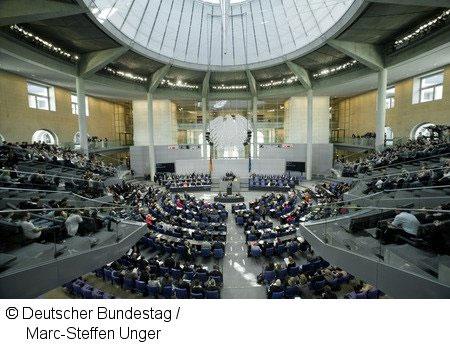 Blick in den Plenarsaal während der Haushaltsdebatte.
