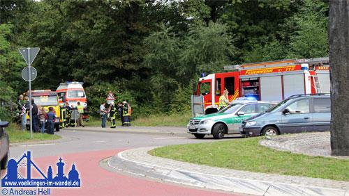 Die L136 musste auf Grund des Unfalls voll gesperrt werden.