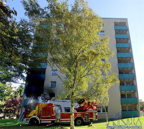 Hochausbrand in Völklingen-Wehrden