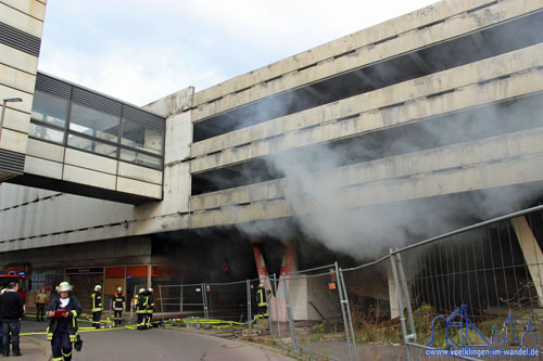 Brand von Unrat an Völklinger Kaufhof