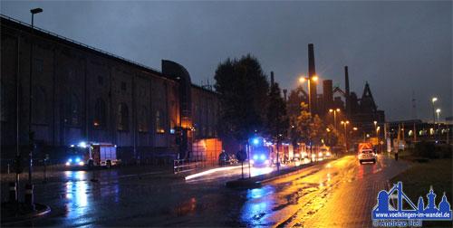 Die Völklinger Feuerwehr wurde an die Gasgebläsehalle alarmiert.