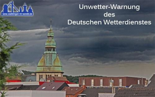 Unwetter-Warnung des DWD