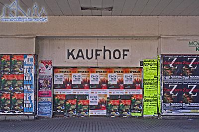 Eingangsbereich des ehem. Kaufhof in Völklingen
