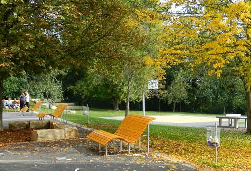 Der neugestaltete Schulhof des Marie-Luise-Kaschnitz-Gymnasiums - Foto: Regionalverband SB
