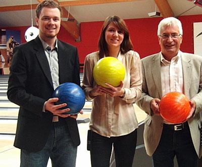 Nicolas Wallior, Charlotte Guldner und Oberbürgermeister Klaus Lorig