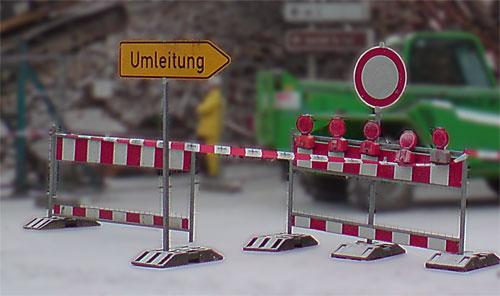 Umleitung wegen Baustelle - Foto: A.Hell