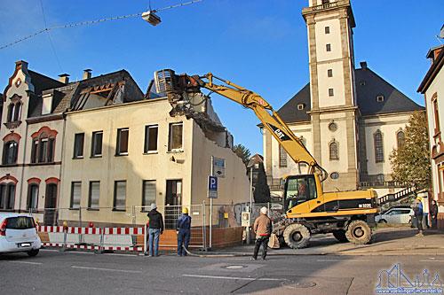 Abrissarbeiten in der Moltkestraße