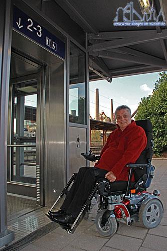 Gerald Zieder kämpft seit 1995 für einen barrierefreien Bahnhof