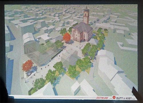3D Entwurf für die Neugestaltung rund um die Versöhnungskirche