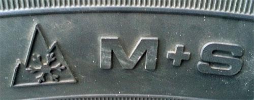 M+S-Symbol auf Winterreifen