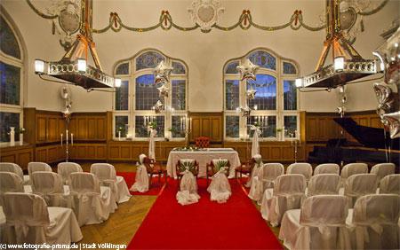 Der reich geschmückte Festsaal - Foto: www.fotografie-prisma.de | Stadt Völklingen
