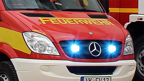 Ein Feuerwehrfahrzeug im Einsatz