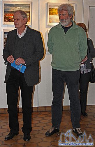 Bürgermeister Wolfgang Binz und Michael Bauer bei der Eröffnungsfeier