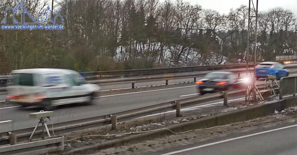Blitzer auf der A620 an der Autobahnabfahrt Wehrden