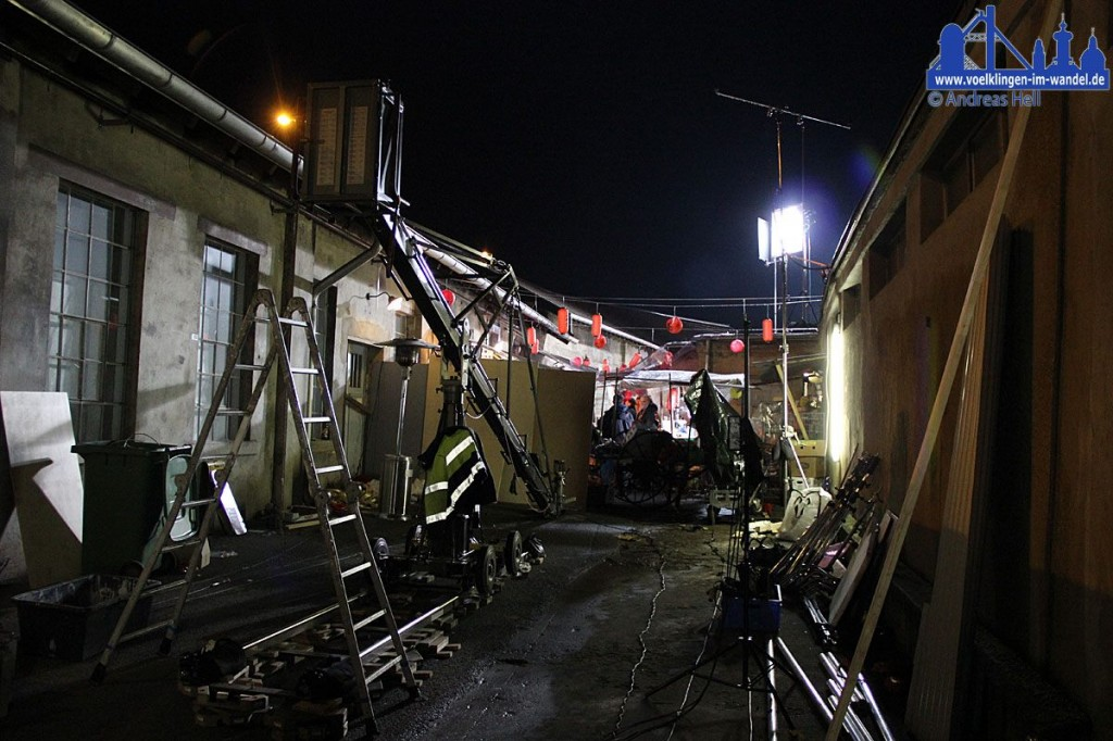 Dreharbeiten im Weltkulturerbe Völklinger Hütte zum Kurzfilmdreh Dystopia