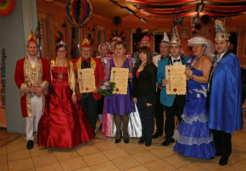 Karnevalistinnen des Jahres (Foto: Stadt Völklingen)