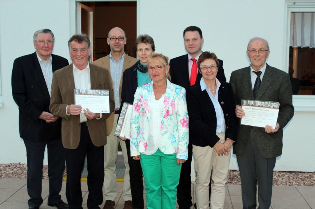 Von links nach rechts: Prof. Heinrich Schüssler, Hans Joachim Hoffmann, Stefan Rabel, Sabine Pick, Ellen Seewald, Michael Adam, Gisela Rink, Leodegar Probst