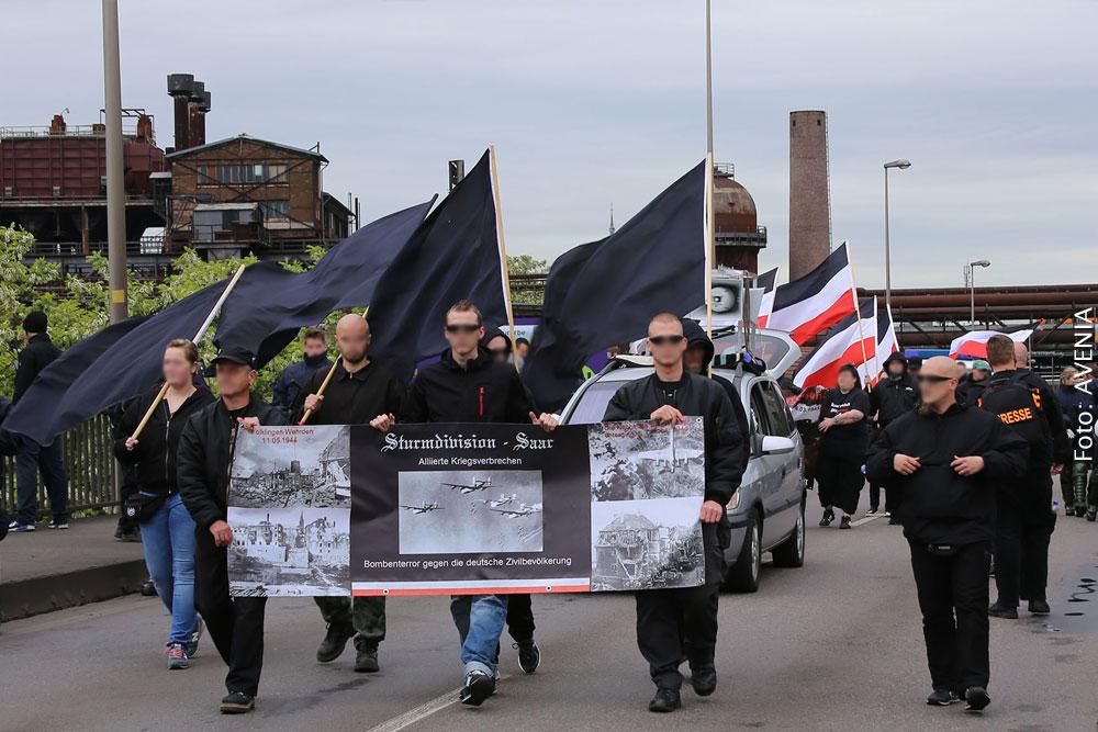 """""""Sturmdivision Saar"""" auf dem Weg nach Wehrden (Foto: Avenia)"""