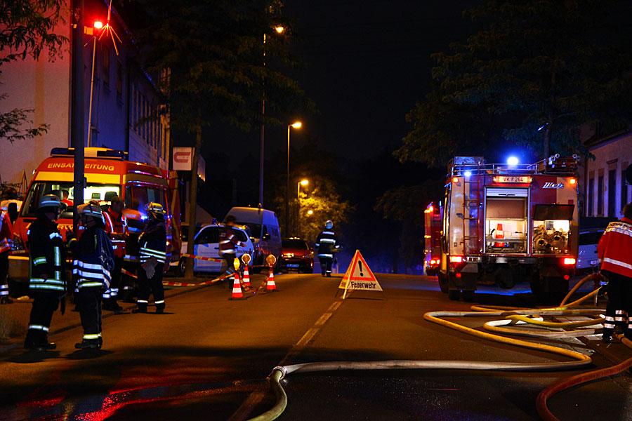 Unausweichlich ist die Vollsperrung der Ludweilerstraße (Foto: A.Hell)