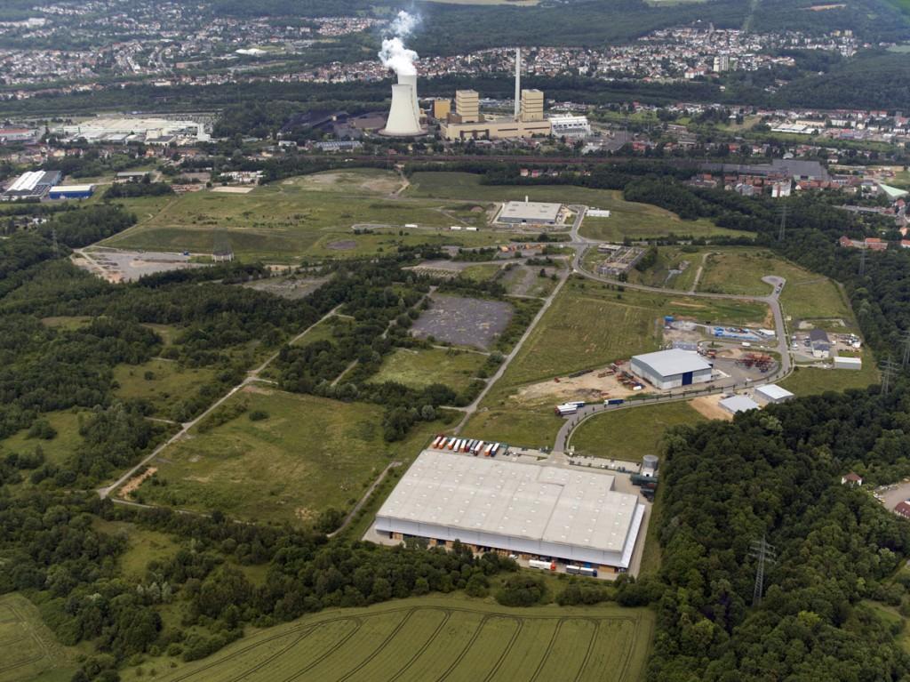 Der Gewerbepark Ost aus der Luft (Foto: Stadt VKL)