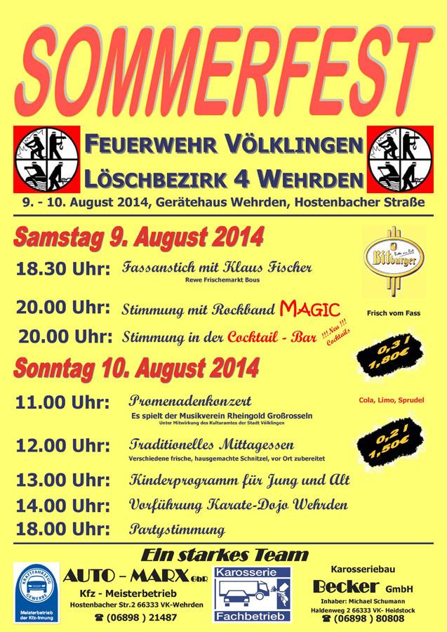 Sommerfest der Feuerwehr Wehrden
