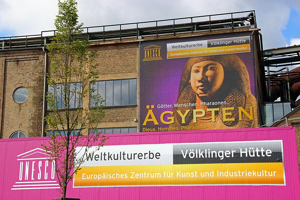 """Ausstellung """"Ägypten - Götter. Menschen. Pharaonen"""" im Weltkulturerbe Völklinger Hütte (Foto: Hell)"""