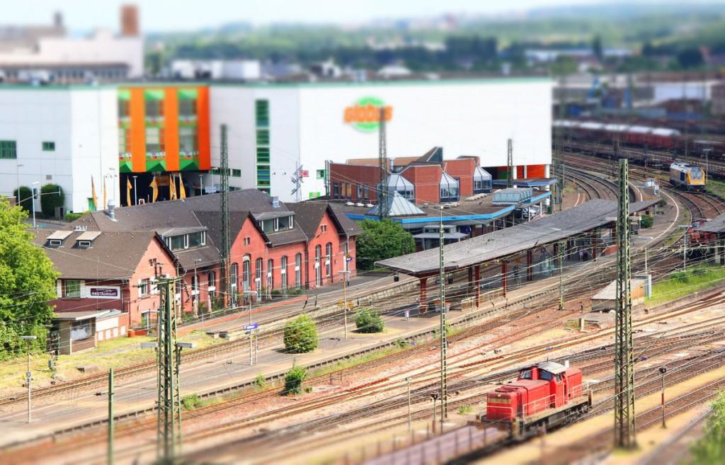 Die Völklinger Bahnhofsanlage (Foto: Hell)