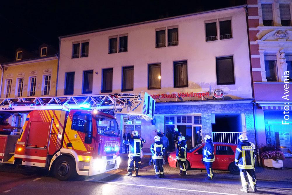 Vermeindlicher Brand im Hotel Stadt Völklingen ; Foto: Avenia