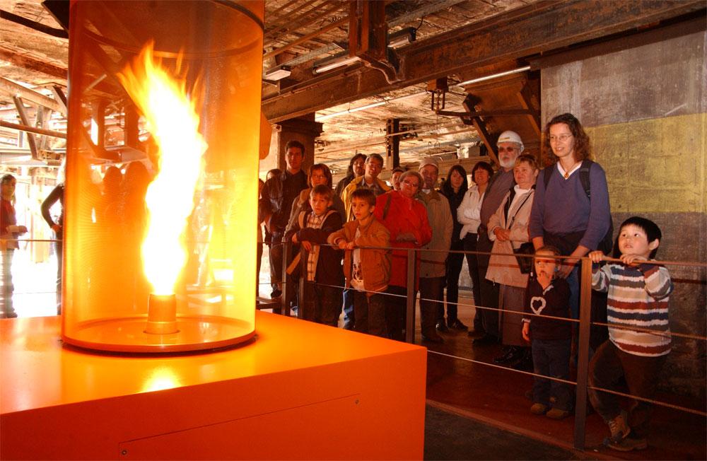 Feuertornado im ScienceCenter Ferrodrom® des Weltkulturerbes Völklinger Hütte Copyright: Weltkulturerbe Völklinger Hütte/Wolfgang Klauke