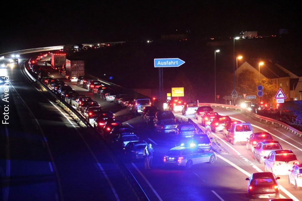 Es bildete sich ein langer Rückstau - wer nach Saarlouis wollte musste geduldig sein (Foto: Avenia)