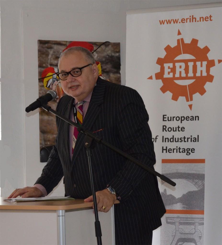 Meinrad Maria Grewenig auf der ERIH-Jahreskonferenz in Cromford Mills Copyright: Hildebrand de Boer, Hollandoute